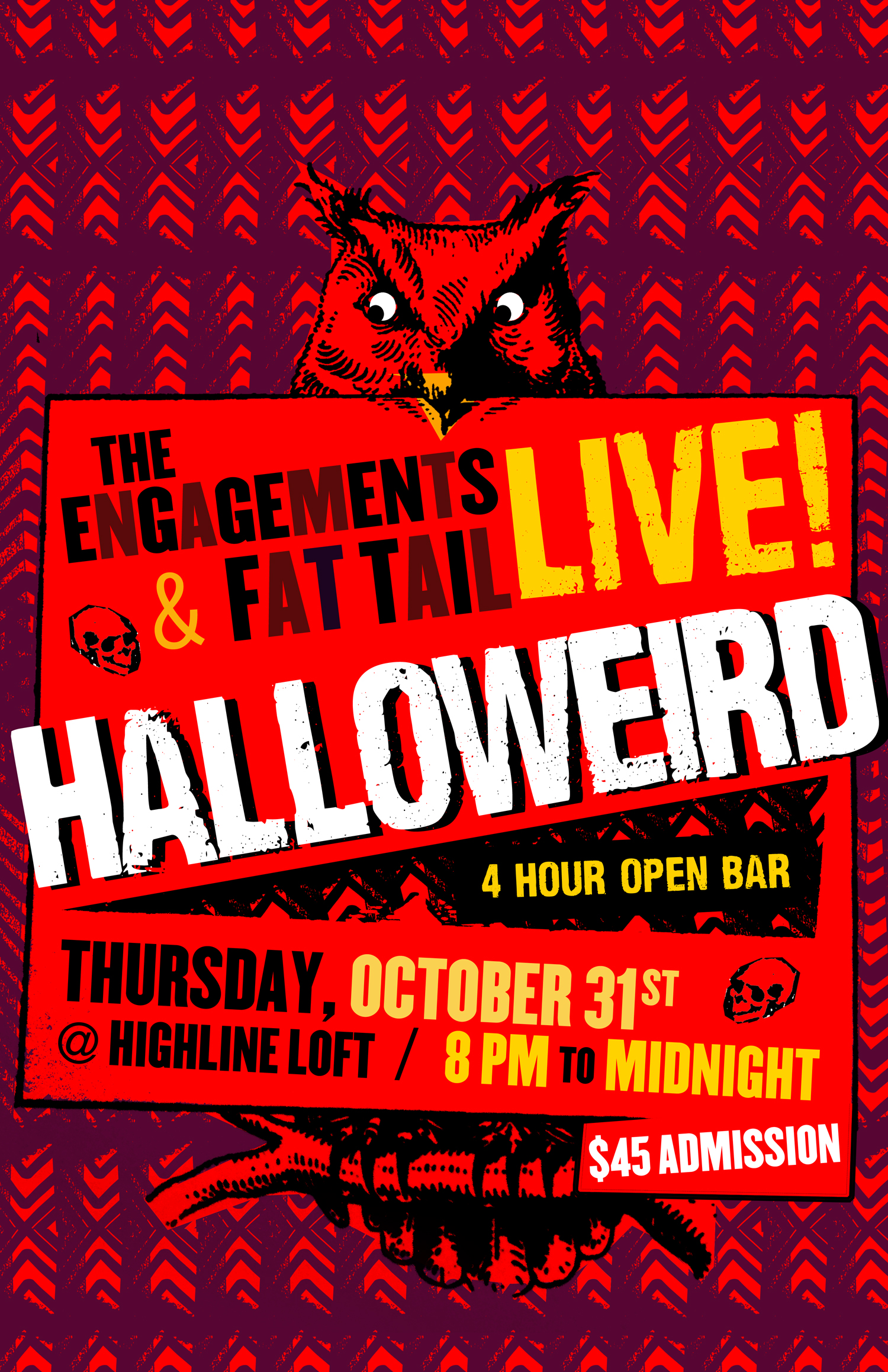 Halloween 80s Cover Band Dance Party | The Engagements