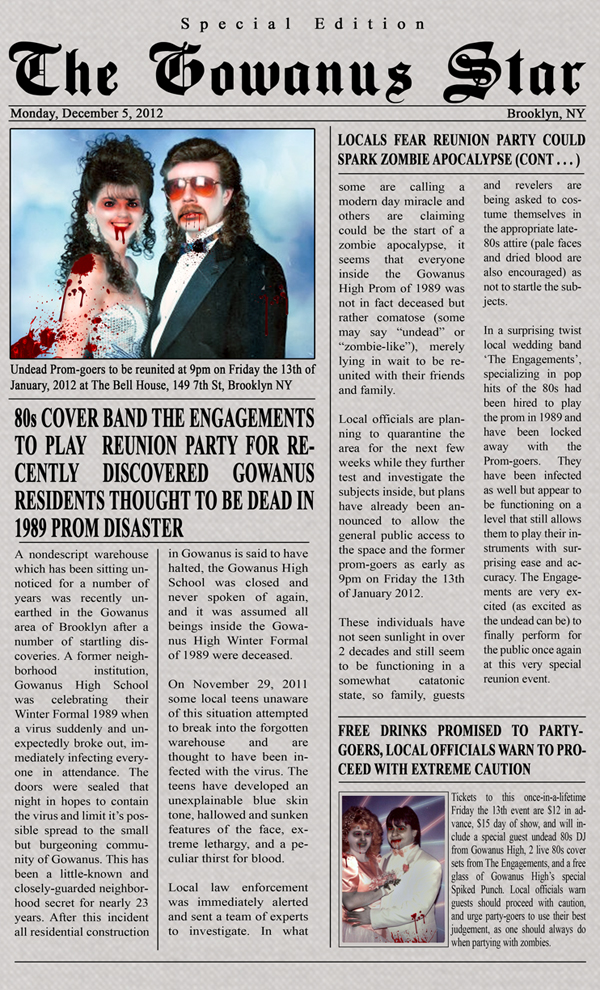 80s Zombie Prom Article